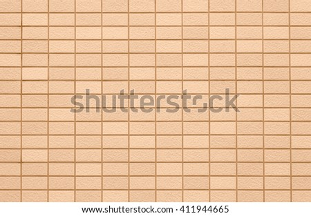 Brown concrete tile wall pattern and background seamless - stock photo