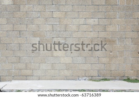 brown concrete wall background - stock photo