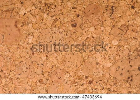 Brown cork surface - stock photo