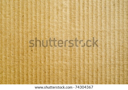 brown corrugated cardboard as background - stock photo