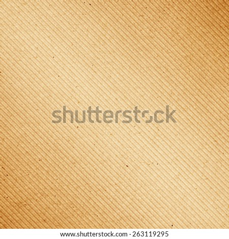 Brown corrugated cardboard diagonal pattern texture background - stock photo