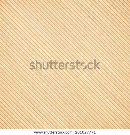 Brown corrugated cardboard diagonal texture - stock photo