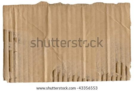 Brown corrugated cardboard sheet background - stock photo
