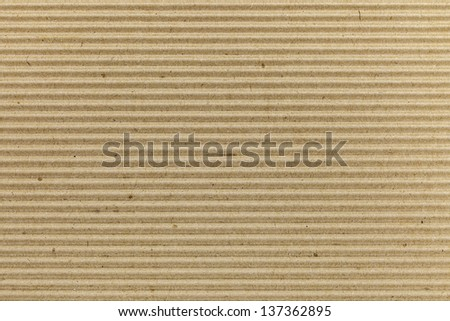 Brown corrugated cardboard texture - stock photo