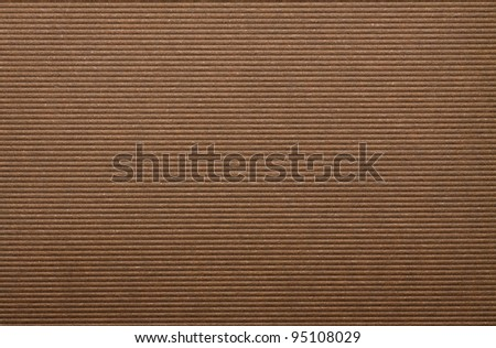 Brown corrugated paper cardboard texture background.