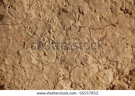 brown cracked background - stock photo