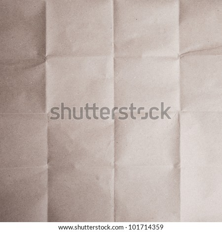 Brown crease paper texture - stock photo
