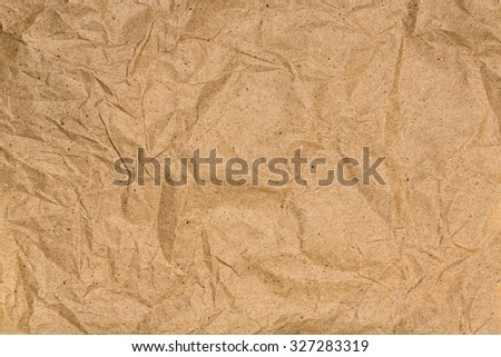 Brown creased paper background texture