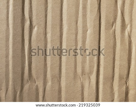 Brown crumpled paper - stock photo