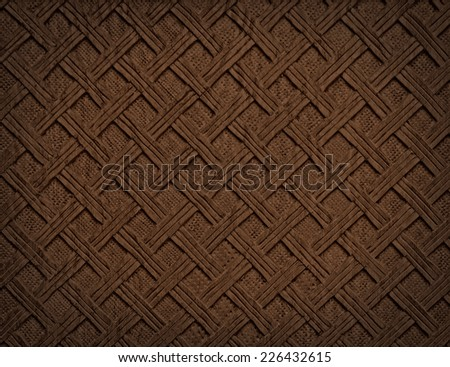 Brown decorative background from handmade carved wood texture - stock photo