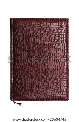 brown diary - stock photo