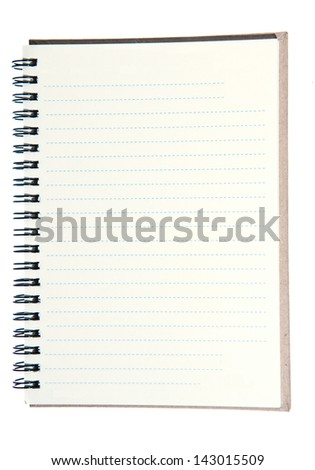brown  diary on white background