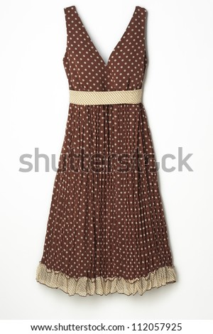 Brown Dress - stock photo