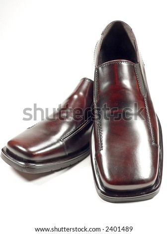 Brown Dress Shoes - stock photo