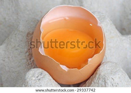 Brown eggs in detail on a tray