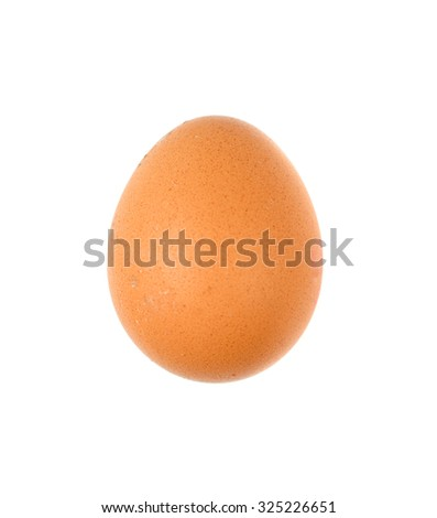 brown eggs on a white background - stock photo