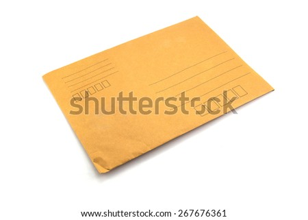 Brown Envelope close up shot
