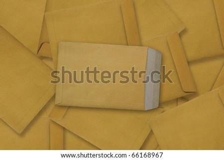 Brown Envelope document - stock photo