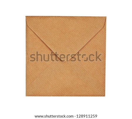 Brown envelope, isolated on white