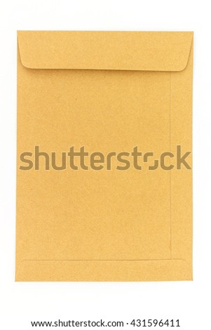 brown envelope letter on white background
