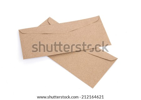 Brown envelope made by recycled paper