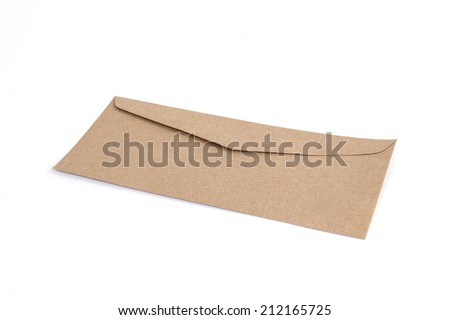 Brown envelope made by recycled paper - stock photo