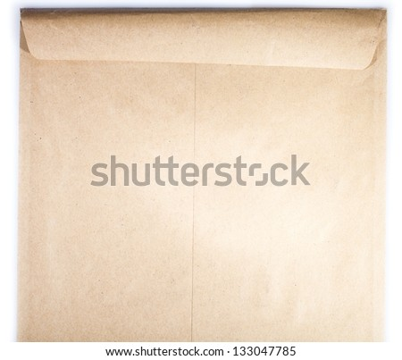 Brown envelope texture background with copy space - stock photo