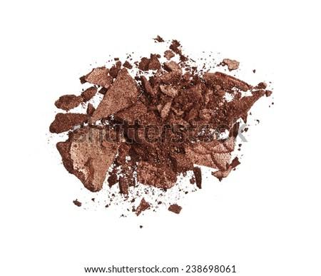 Brown Eyeshadow - stock photo