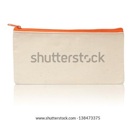Brown fabric bag - stock photo