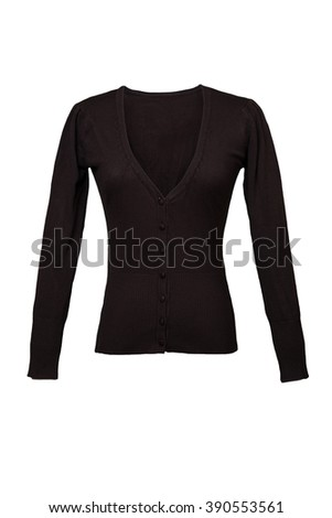 Brown female blouse - stock photo