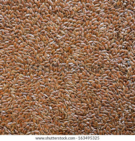 Brown flax seed background