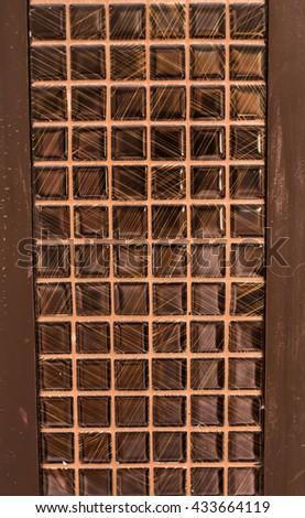 brown floor tiles - stock photo