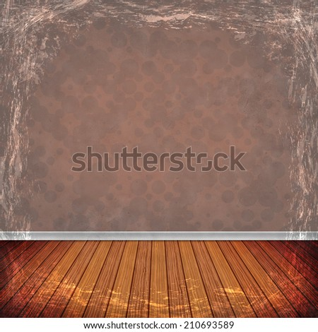 Brown, Gold grunge background. Old abstract vintage texture with frame and border.