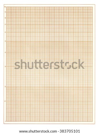 Brown graph paper sheet background