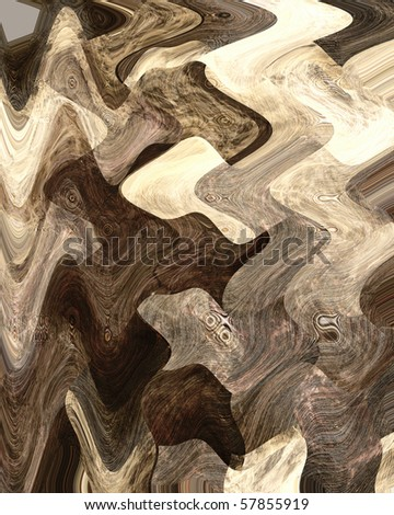 brown grunge background with smooth lines in it - stock photo