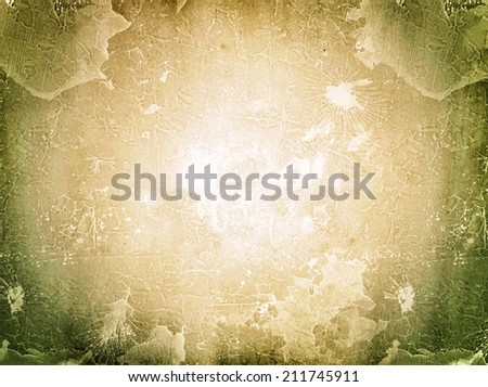 Brown grunge texture and lighting filter effect for background - stock photo