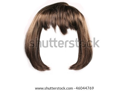 brown  hair isolated - stock photo