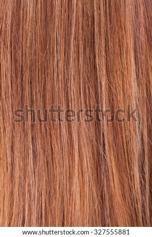 Brown hair texture and background - stock photo