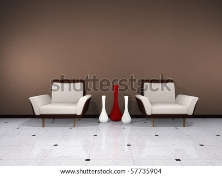 Brown interior - stock photo