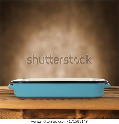 brown interior in kitchen  - stock photo