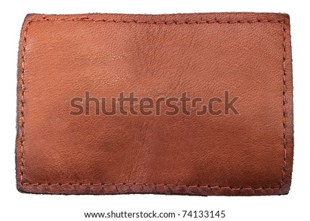 Brown label on white background - stock photo