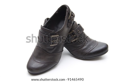 Brown ladies shoes