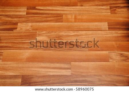 brown laminate perspective floor - stock photo