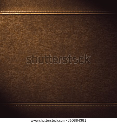 brown leather background or grain pattern texture - stock photo