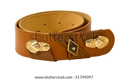 BROWN LEATHER BELT WITH A TWIST