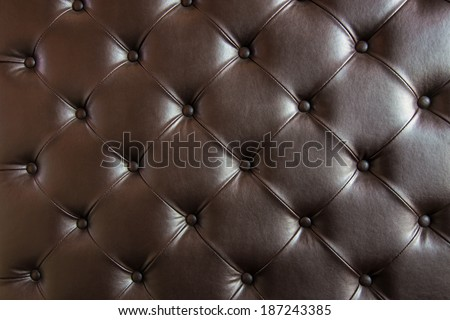 Brown leather close-up background, luxury