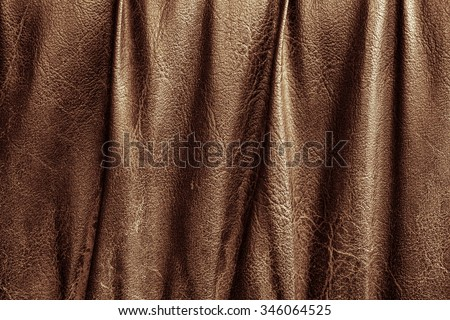 Brown Leather for Concept and Idea Style of Fine Leather, Workspace, Handmade leather Background Textured and Wallpaper. Vintage Leather.  - stock photo