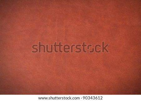 Brown leather grunge texture, useful as background for text. - stock photo