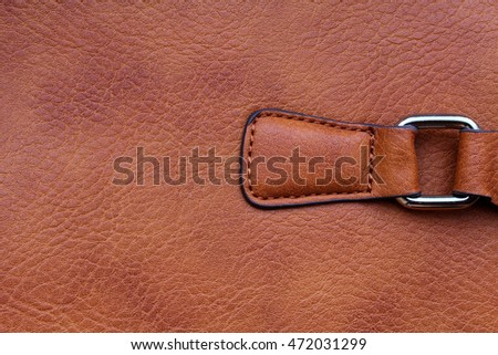 brown leather handbag background