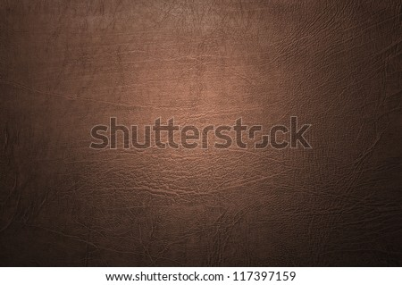 Brown leather texture closeup - stock photo